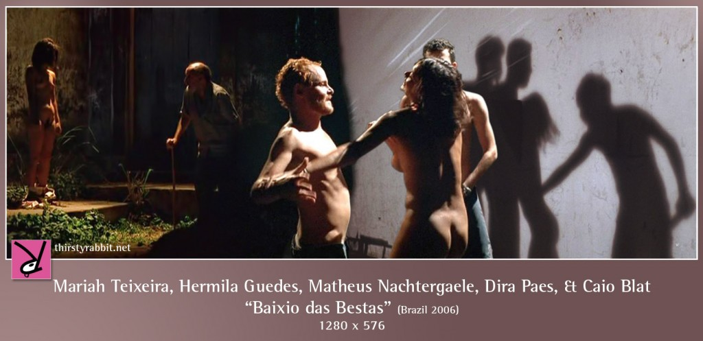 Mariah Teixeira, Hermila Guedes, Matheus Nachtergaele, Dira Paes, and Caio Blat nude in Baixio das Bestas