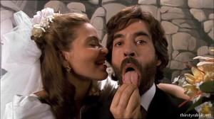 Ornella Muti and Imanol Arias in El amante bilingüe