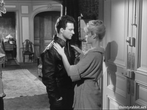 Brigitte Bardot and Franco Interlenghi in En cas de malheur
