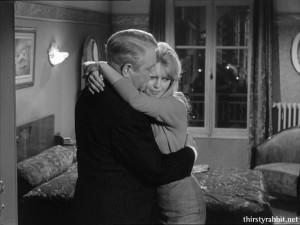 Jean Gabin and Brigitte Bardot in En cas de malheur