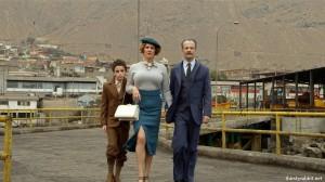 Brontis Jodorowsky, Pamela Flores, and Jeremias Herskovits in La danza de la realidad