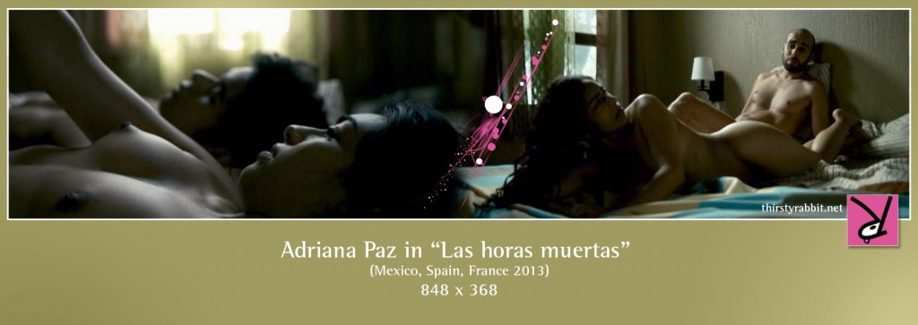 Adriana Paz, Sergio Lasgón, and Kristyan Ferrer nude in Las horas muertas aka The Empty Hours