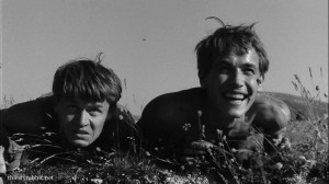 Sergey Nikonenko and András Kozák in Így jöttem aka My Way Home [1965, Hungary]