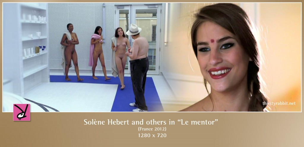 "Solène Hebert, Bettina Kox, Daphnée Lecerf, and Anksa Kara nude in the comedy ""Le mentor"" [2012, France]"