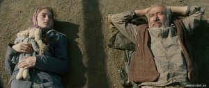 "Mariam Buturishvili and Ilyas Salman in ""Simindis kundzuli"" aka ""Corn Island"" (2014)"