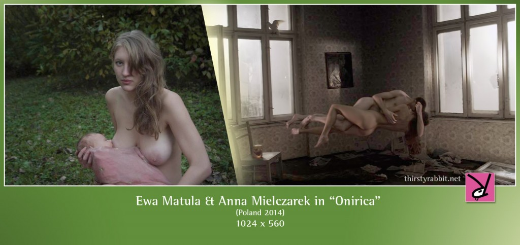 "Ewa Matula and Anna Mielczarek nude in ""Onirica"" aka ""Field of Dogs"" [2014, Poland]"