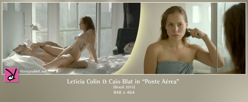 "Letícia Colin and Caio Blat nude in ""Ponte Aérea"" (2015, Brazil)"