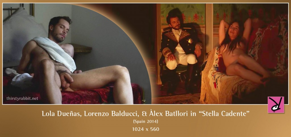 Lola Dueñas, Lorenzo Balducci, and Àlex Batllori nude in Stella cadente aka Falling Star