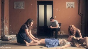 "Gabriella Riva, Adele Raes, Andrea de Onestis, and Federica Fracassi in ""Eva Braun"" (2015)"