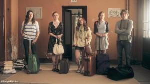 "Federica Fracassi, Giulia Faggioni, Adele Raes, and Nathan Macchioni in ""Eva Braun"" (2015)"