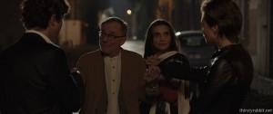 """Jasmine Trinca, Riccardo Scamarcio, Angela Molina, and Roberto Vecchioni in """"Nessuno si salva da solo"""" [2015]"""