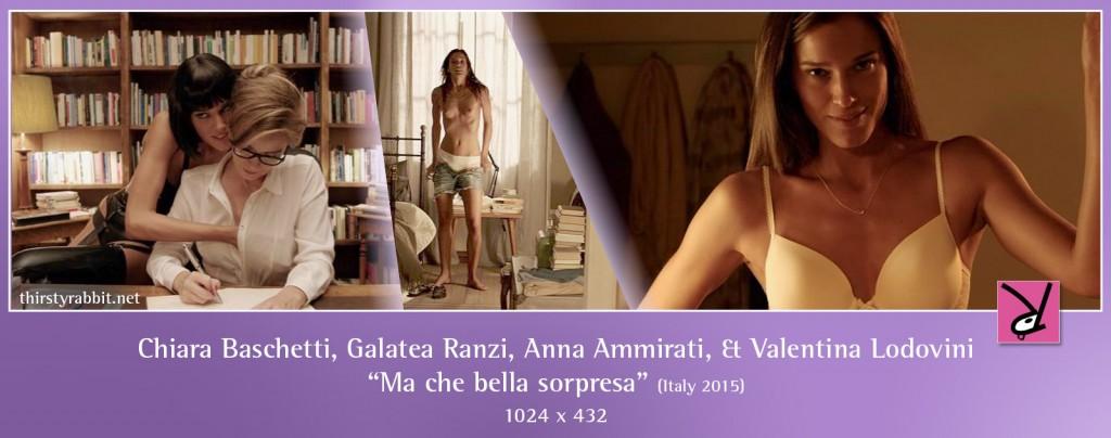 """Chiara Baschetti and Valentina Lodovini from the Italian comedy """"Ma che bella sorpresa"""" (2015)"""