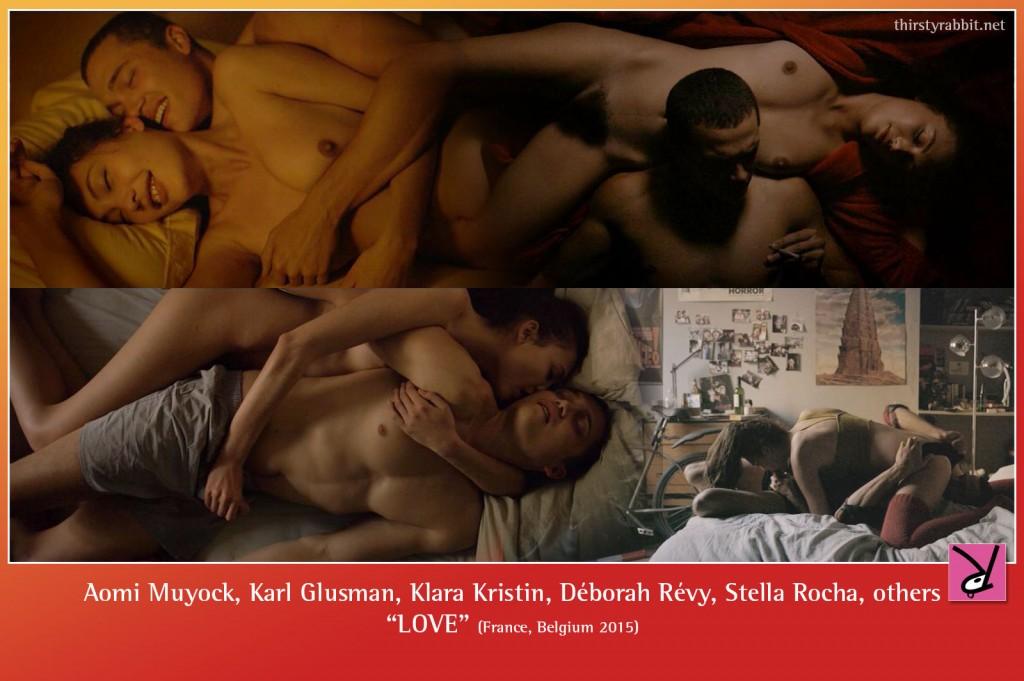 Aomi Muyock, Karl Glusman, Klara Kristin, Déborah Revy, Stella Rocha, and others nude in Gaspar Noe's 'LOVE'