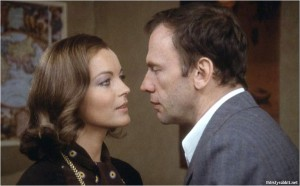 "Romy Schneider and Jean-Louis Trintignant in ""Le mouton enragé"""