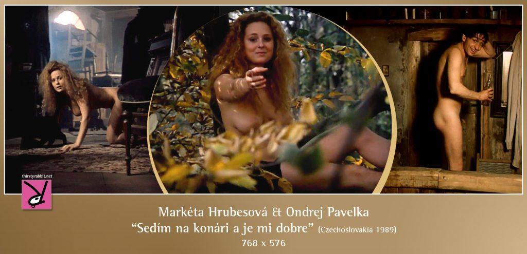 """Markéta Hrubesová and Ondrej Pavelka nude in """"Sedím na konári a je mi dobre"""" [1989, Czechoslovakia]."""