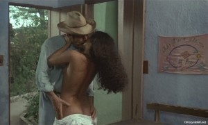 Marcello Mastroianni and Sonia Braga in Gabriela (1983)
