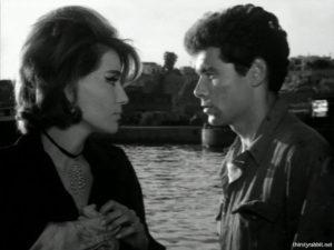"""Mairi Hronopoulou and Faidon Georgitsis in """"Ta kokkina fanaria"""" [1963]"""