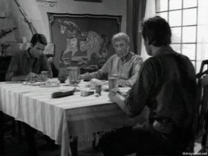"Nikos Kourkoulos and Manos Katrakis in ""Blood on the Land"" [1966]"