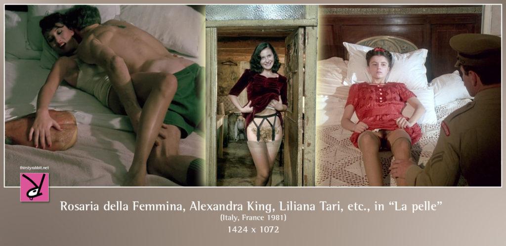 "Rosaria della Femmina, Liliana Tari, and others in Liliana Cavani's Italian drama ""La pelle"" aka ""The Skin"" (1981)."