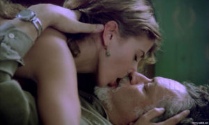 "Victoria Abril and Lautaro Murúa in ""La muchacha de las bragas de oro"""
