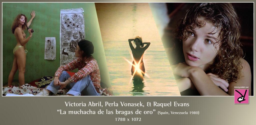 """Victoria Abril and Perla Vonasek in """"La muchacha de las bragas de oro"""" aka """"Girl with the Golden Panties"""" (1980 Spain)."""