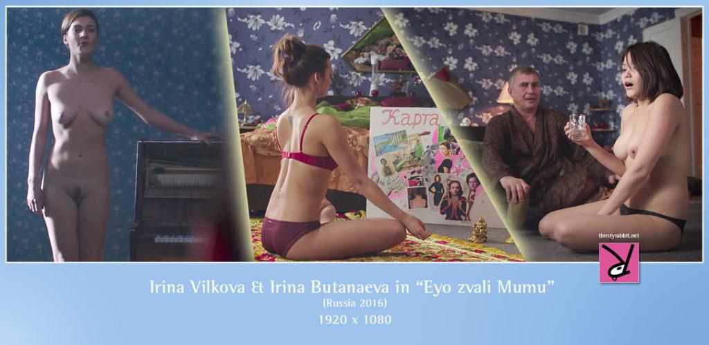 """Irina Vilkova and Irina Butanaeva nude in the film, """"They Called Her Mumu"""" (Russia, 2016)."""
