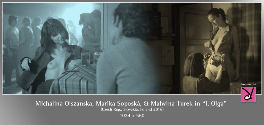 "Michalina Olszanska, Marika Soposká, and Malwina Turek in ""I, Olga"" [2016]"