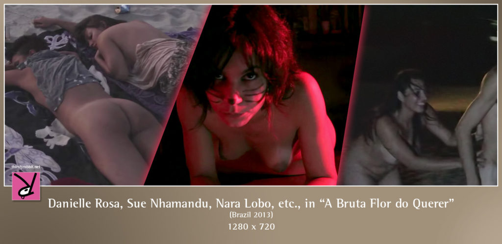 "Danielle Rosa, Nara Lobo, Sue Nhamandu, and others from the Brazilian film, ""A Bruta Flor do Querer"" (2013)."