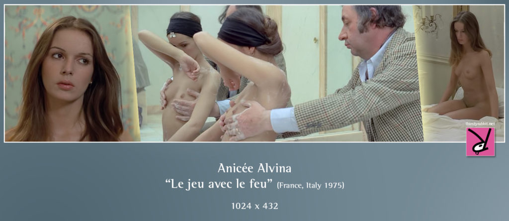 "Anicée Alvina in Alain Robbe-Grillet's ""Playing with Fire"" (Le jeu avec le feu), 1975 France"