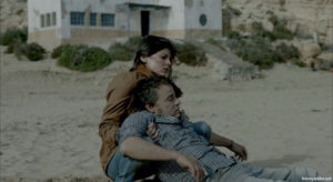 "Elena Anaya and Eduard Fernández in ""Lejos del mar"" (2015)"