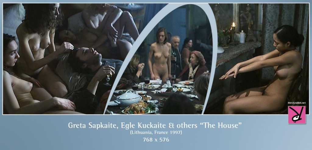 "Egle Kuckaite, Greta Sapkaite, and others from the Sarunas Bartas film, ""A Casa"" aka ""The House"", 1997, Lithuania."
