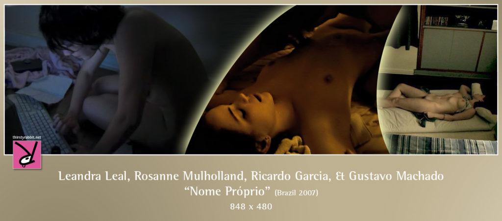 "Leandra Leal, Rosanne Mulholland, Ricardo Garcia, and Gustavo Machado in ""Nome Próprio"" aka ""Camila Jam"" (2007, Brazil)"