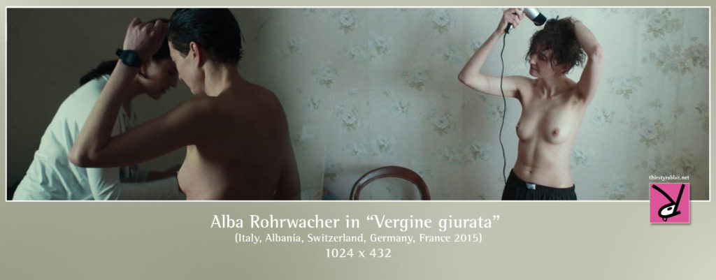 "Alba Rohrwacher from the Italian-Albanian film, ""Vergine giurata"" aka ""Sworn Virgin"" (2015)."
