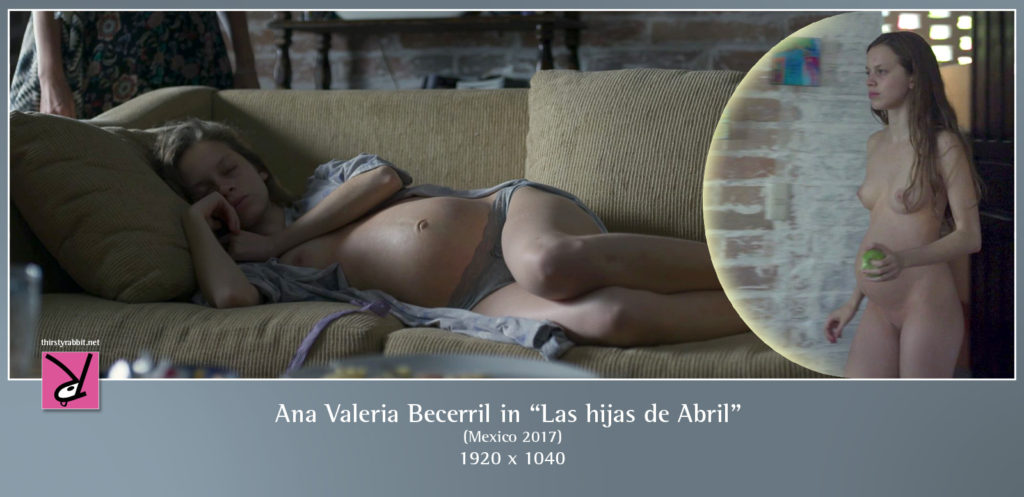 "Scenes of Ana Valeria Becerril from the Mexican drama ""Las hijas de Abril"" [2017]"