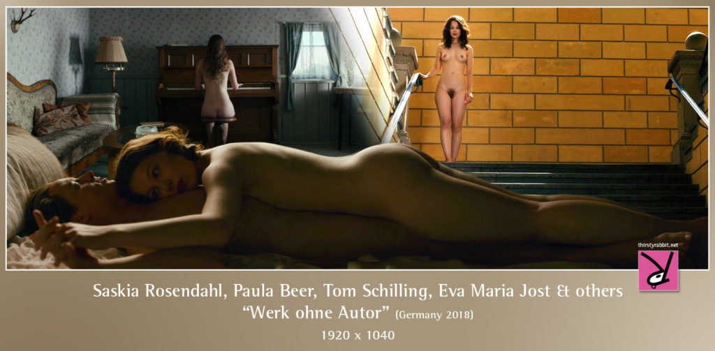 "Saskia Rosendahl, Paula Beer, Tom Schilling, Eva Maria Jost and others in ""Werk ohne Autor"" (2018, Germany)"