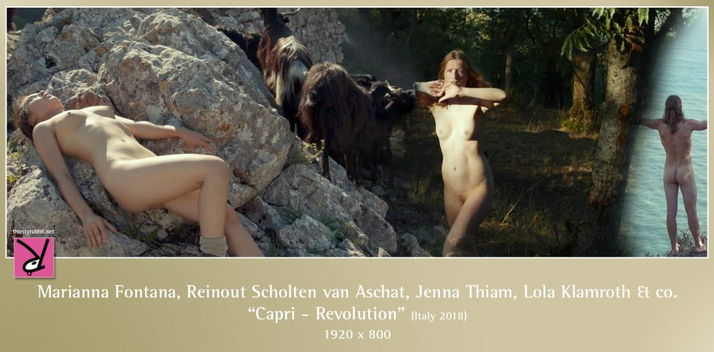 "Marianna Fontana, Reinout Scholten van Aschat, Jenna Thiam, Lola Klamroth, and others from the Italian drama, ""Capri - Revolution"" (2018)."