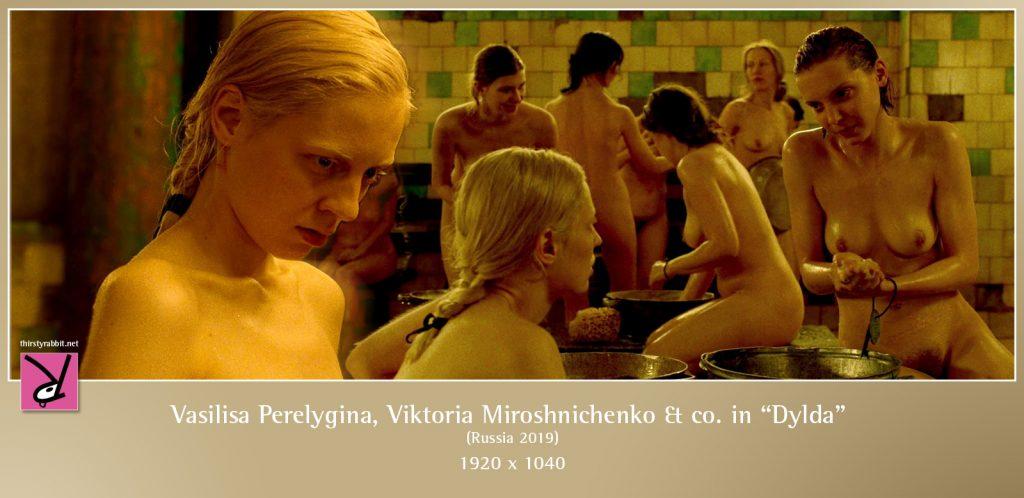 Viktoria Miroshnichenko, Vasilisa Perelygina, and others in Dylda aka Beanpole (2019, Russia)