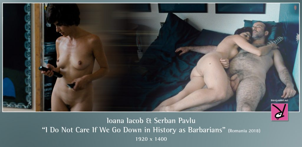 """Ioana Iacob and Serban Pavlu from the Romanian drama, """"I Do Not Care If We Go Down in History as Barbarians"""" [2018, Romania]."""